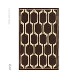 RugStudio presents The Rug Market America Resort Geo Brown 25207 Brown/ivory Hand-Hooked Area Rug